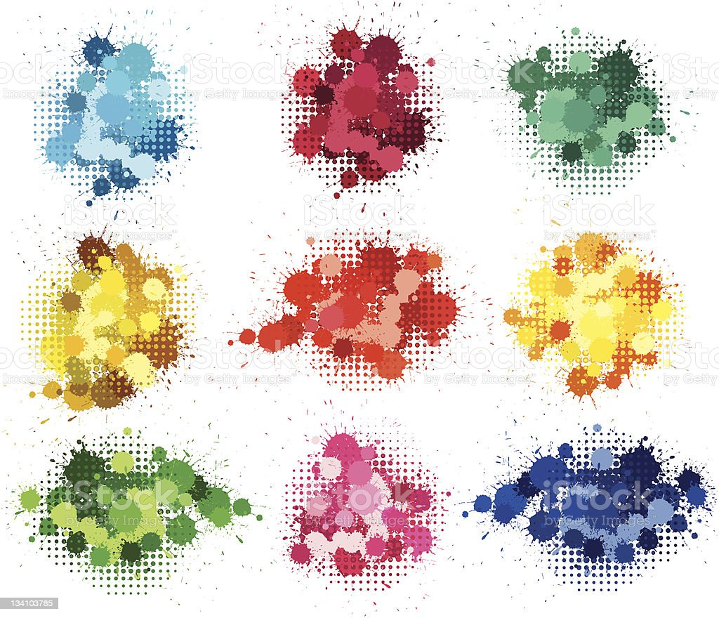 Colorful drops royalty-free stock vector art