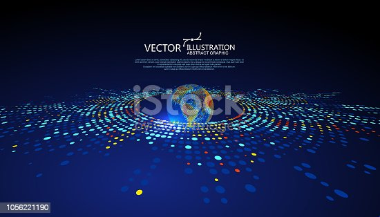 Colorful earth graphic design can be used for business infographic.