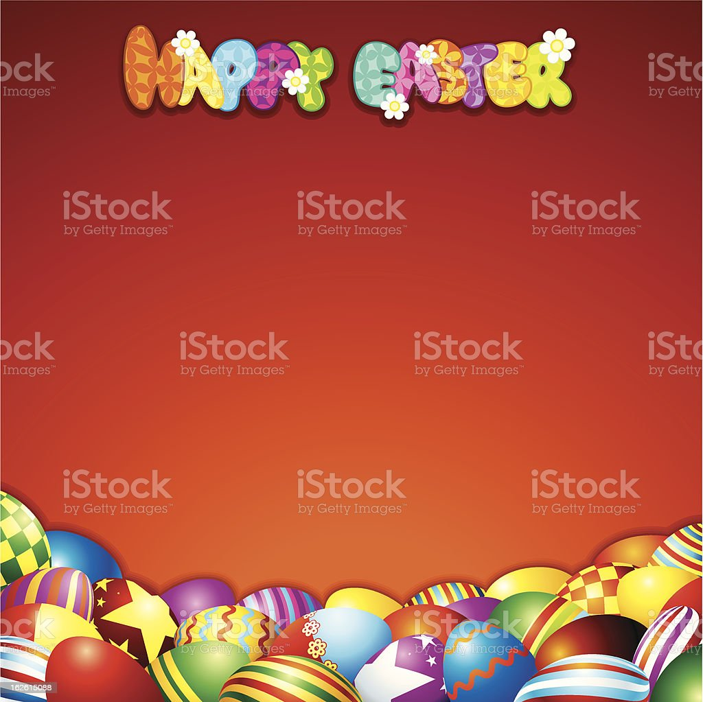Colorful Easter Background with Free Space for Text royalty-free stock vector art