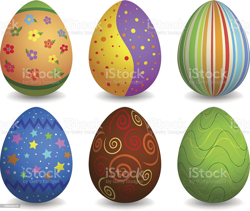 Colorful easter eggs set royalty-free colorful easter eggs set stock vector art & more images of animal egg