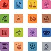 Colorful Education Icon Set
