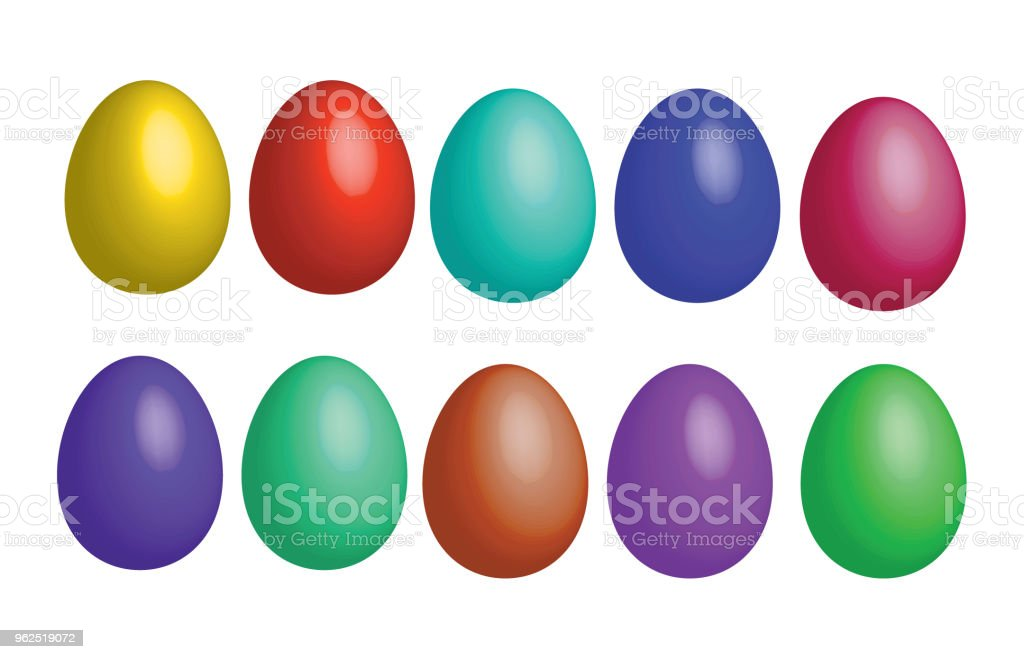 colorful eggs - Royalty-free Art stock vector