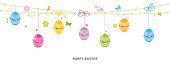 Colorful egss easter background