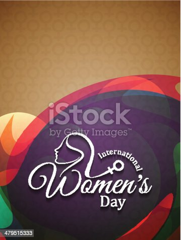 istock Colorful elegant background design for women's day 479515333