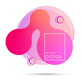 Colorful elements, gradient abstract shape for banner. Fluid geometric frame. Vector flat design for business cards, invitations, gift cards, flyers, brochures. Vector illustration EPS10 - Vector