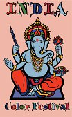 colorful elephant god - ganesha