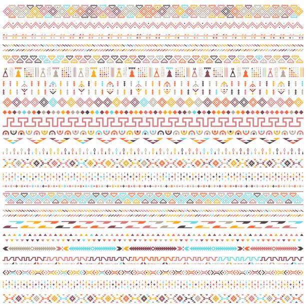 stockillustraties, clipart, cartoons en iconen met kleurrijke etnische geometrische motieven vector patroon ontwerp - indiase cultuur