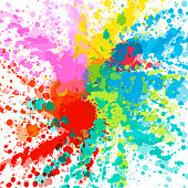 Colorful explosion for design banners, invitations and greeting cards. Color burst on white background. Abstract vector background.