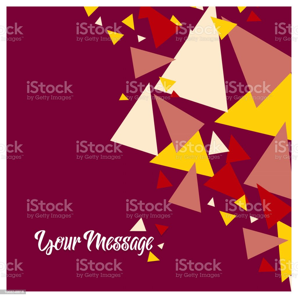 Colorful explosion of confetti. Grainy abstract multicolored texture isolated on red background. Flat design element. Vector illustration vector art illustration