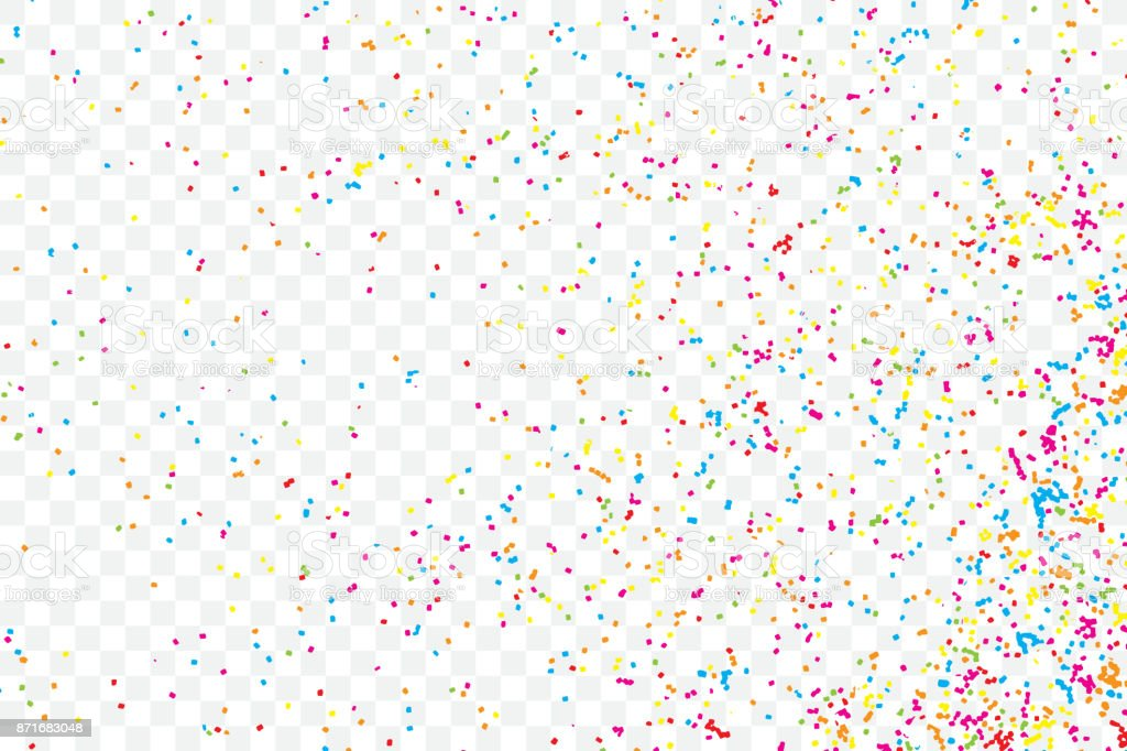 Colorful Explosion Of Confetti Isolated On Transparent
