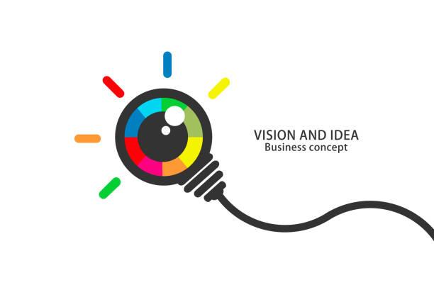 colorful eye bulb - смотреть stock illustrations