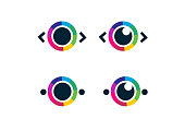 Eye icon - eye symbol. flat eye sign vector.
