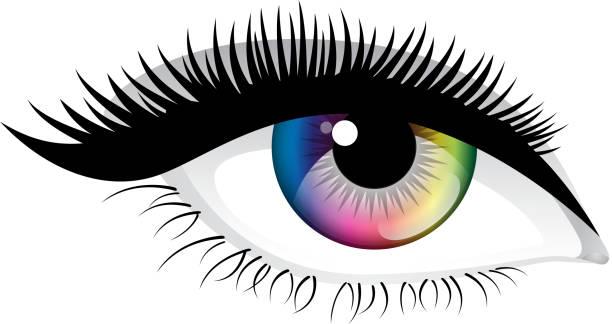 colorful eye - 睫毛 幅插畫檔、美工圖案、卡通及圖標