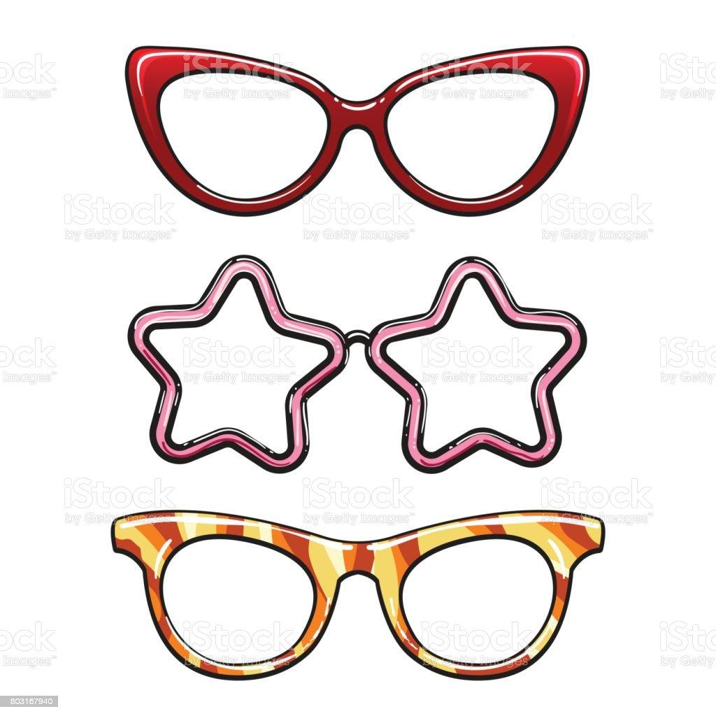 Bunte Brillen Rahmen Set Stock Vektor Art und mehr Bilder von ...