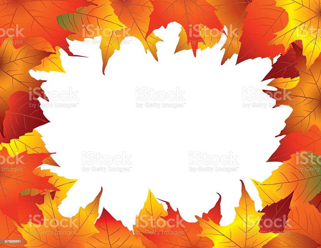 Colorful fall leaves frame royalty free colorful fall leaves frame stockvectorkunst en meer beelden van blad