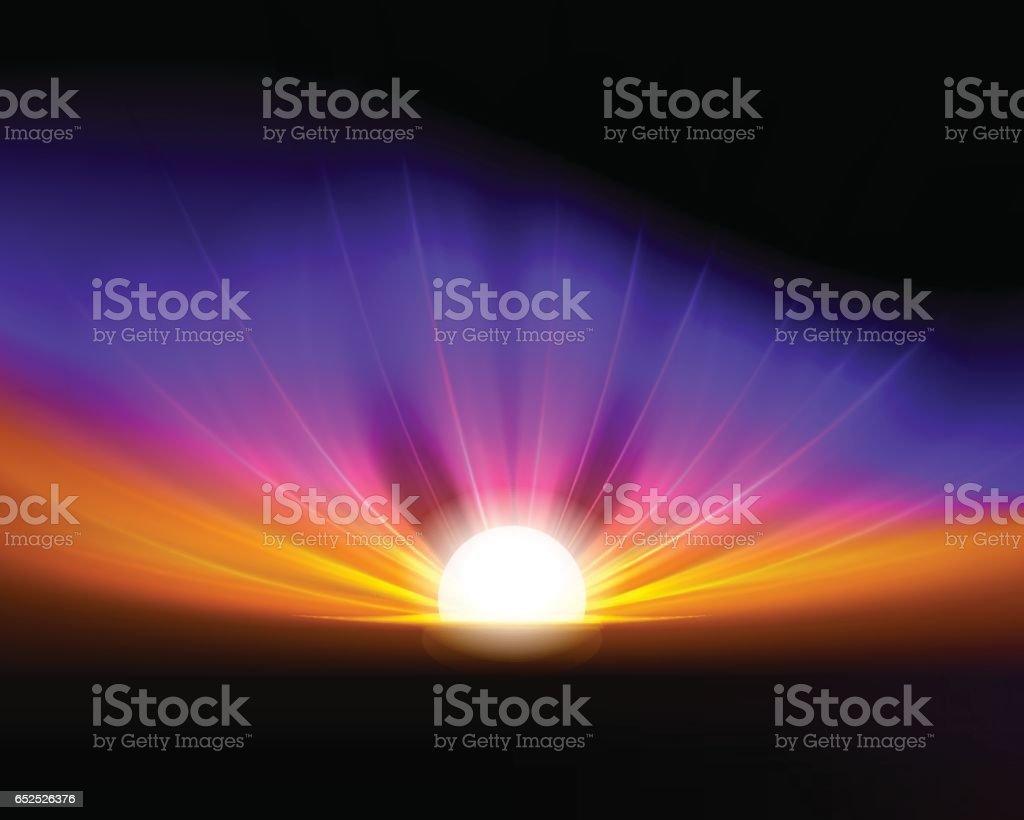 colorful fantastic background vector art illustration