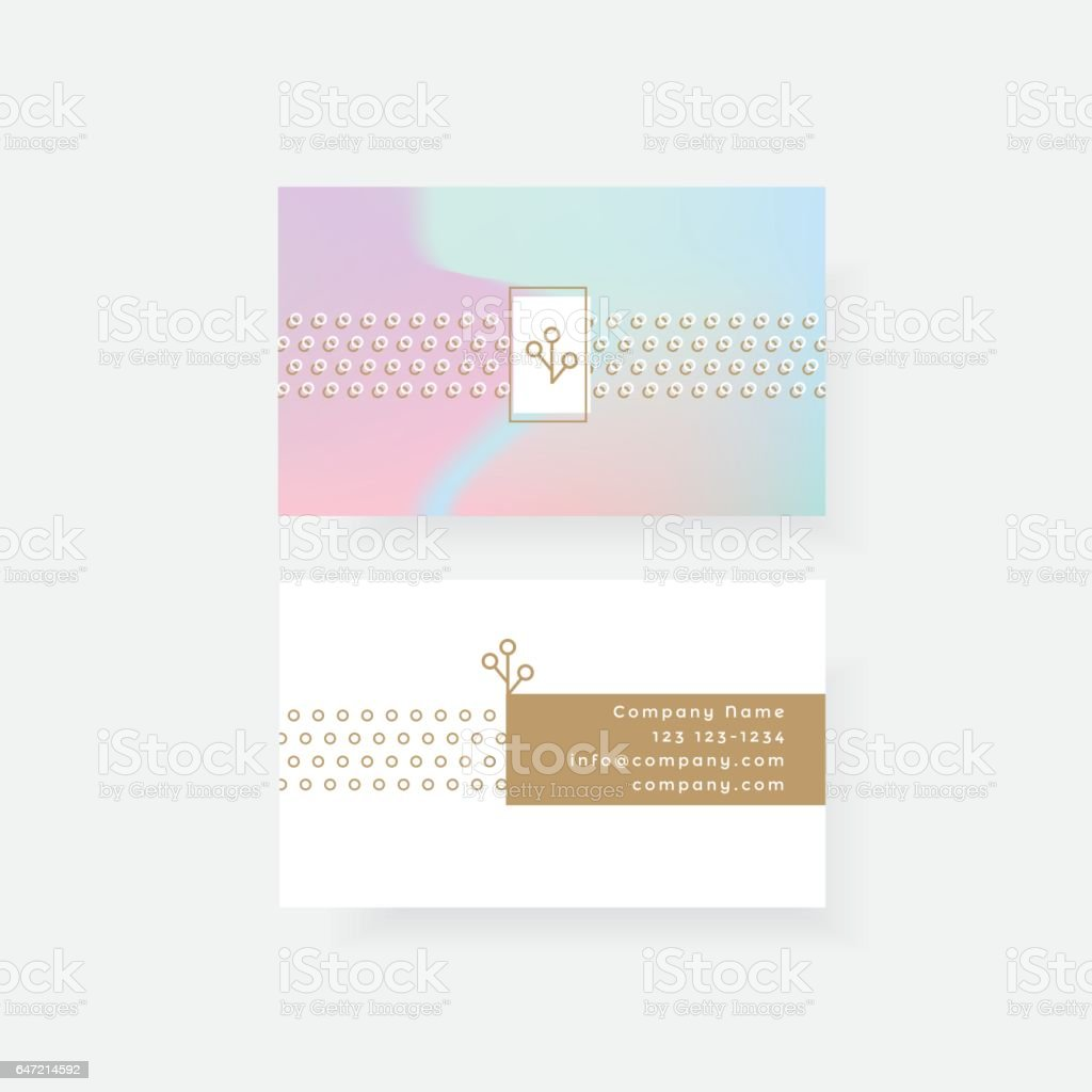 Colorful Feminine Business Card Template Stock Vector Art & More ...