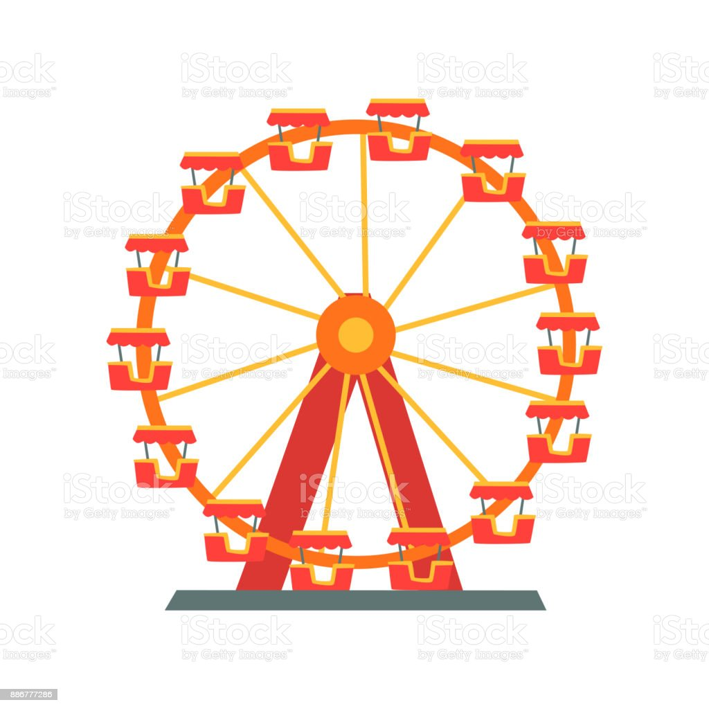 Colorful ferris wheel from amusement park entertainment element colorful ferris wheel from amusement park entertainment element for family fun attraction symbol biocorpaavc