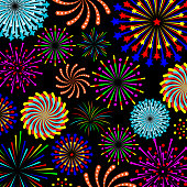 colorful fireworks pattern celebration background