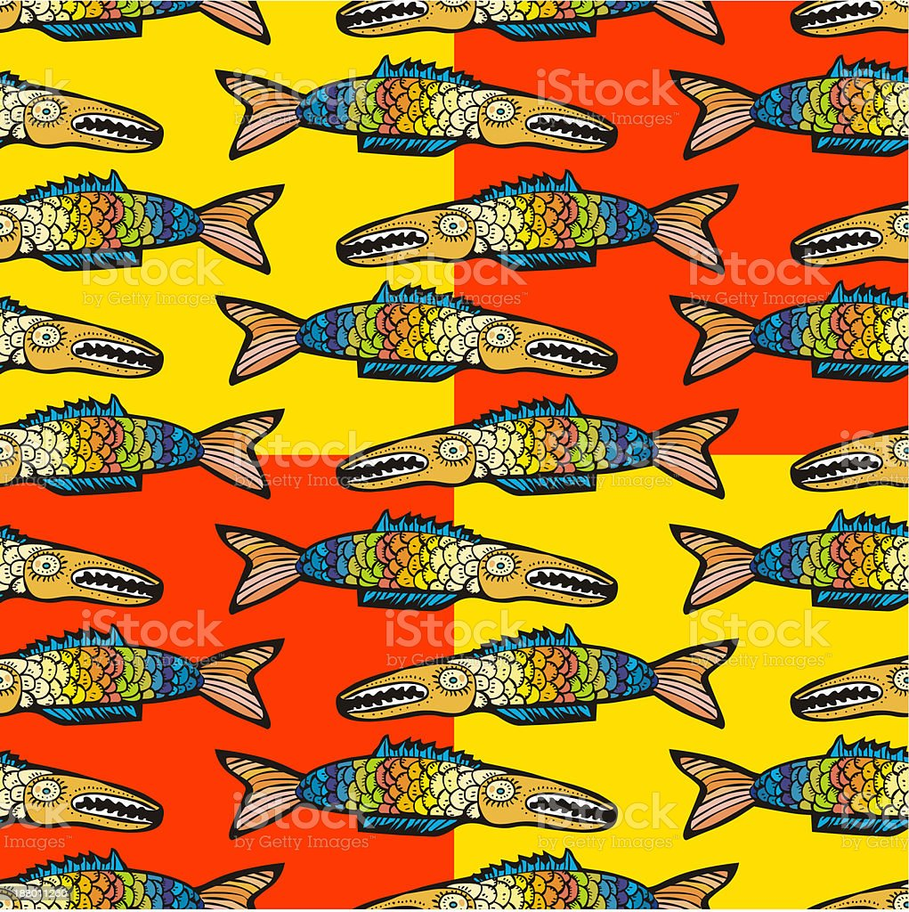 Colorful Fish Seamless Pattern Stock Vector Art & More Images of ...