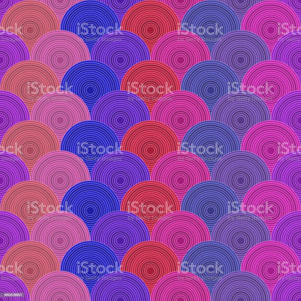 Colorful fish squama vector art illustration