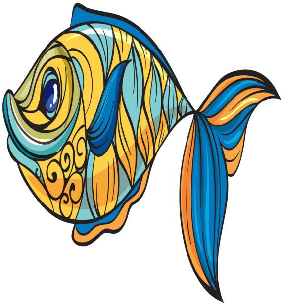 farbenfrohe fische - fotoleiste stock-grafiken, -clipart, -cartoons und -symbole