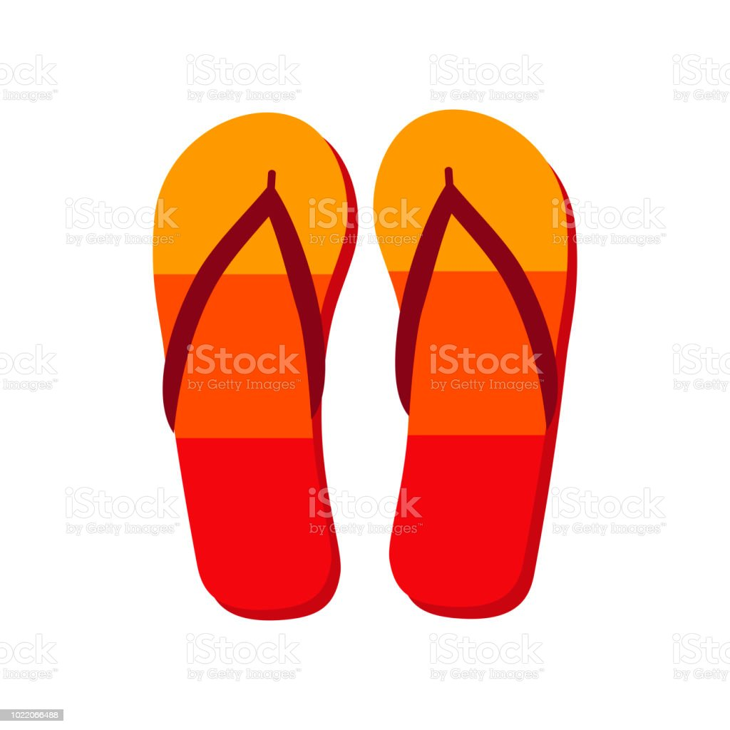 b9101f8fd Colorful flip flops icon isolated on white. Travel icon. Vacation icon.  cruise icon