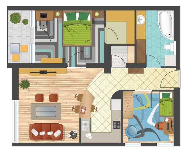 Best Floor Plan Illustrations, Royalty-Free Vector Graphics & Clip