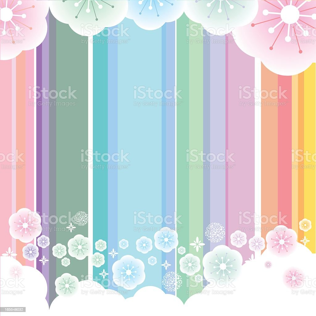 Colorful Floral Background royalty-free stock vector art