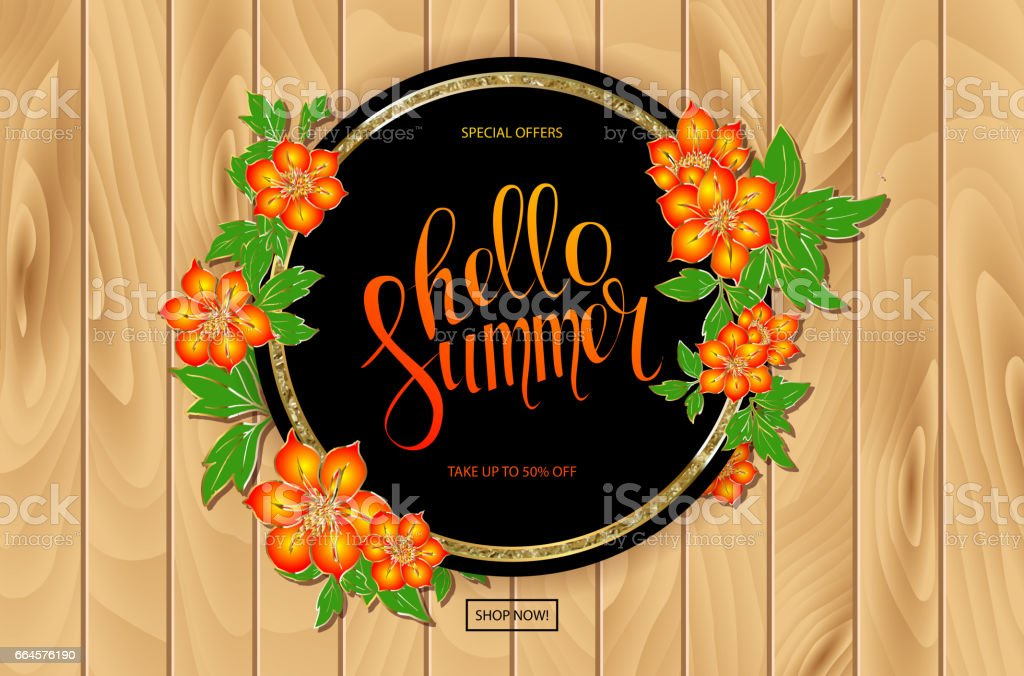 Colorful floral frame for sale Summer Season royalty-free colorful floral frame for sale summer season stock vector art & more images of beauty
