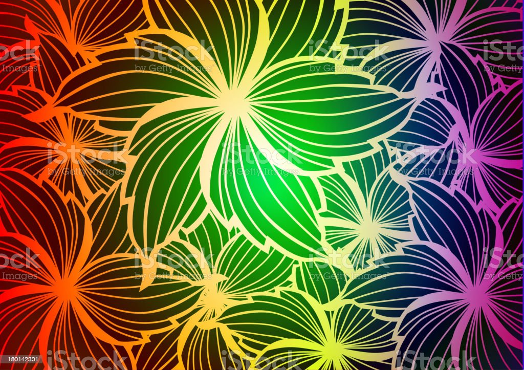 colorful floral pattern background royalty-free stock vector art