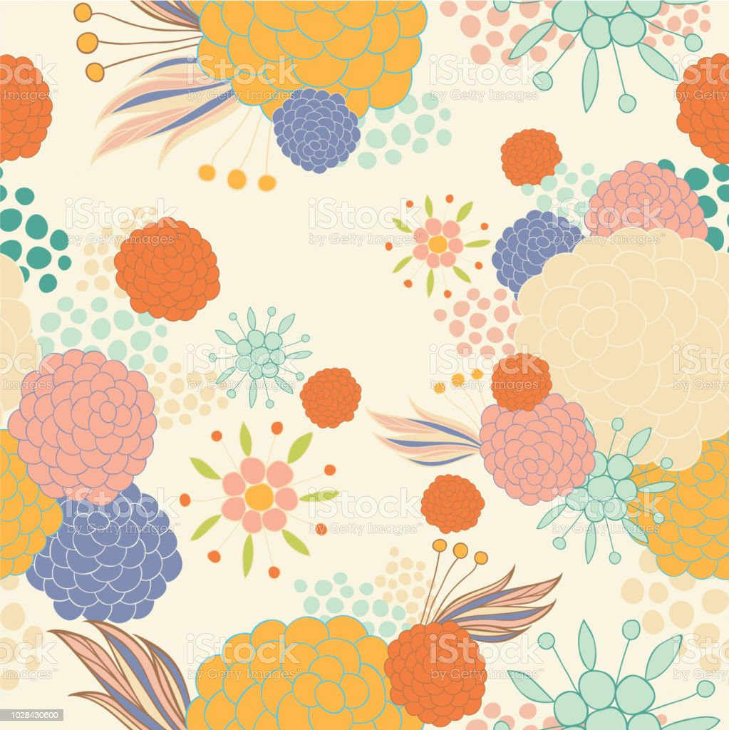 Colorful Floral Pattern Stock Illustration Download Image Now
