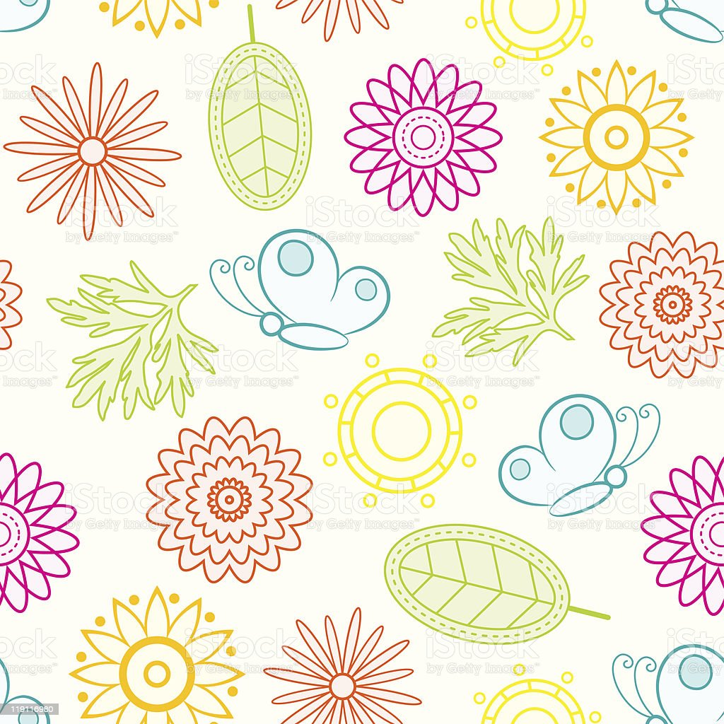 Colorful floral seamless. royalty-free stock vector art