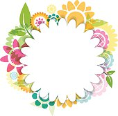 Colorful flower background. Hires JPEG (5000 x 5000 pixels) and EPS10 file included.