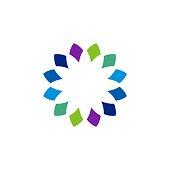 Colorful Flower Decoration Vector symbol Template Illustration Design