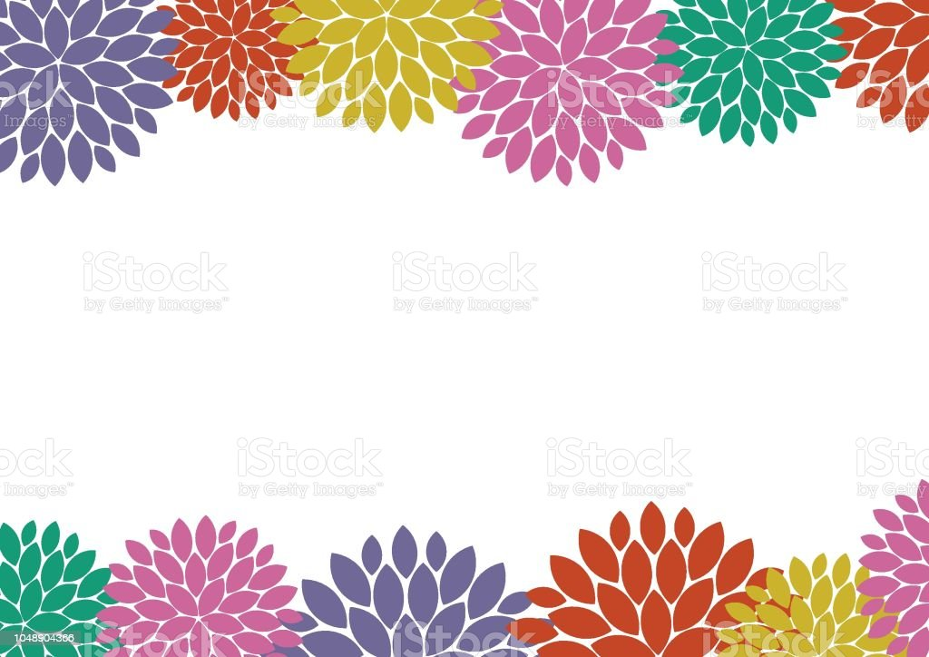 Color Abstract Vector Background Text Frame Stock Vector: Colorful Flower Frame Background Stock Vector Art & More