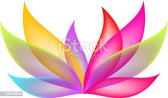 abstract lotus design element