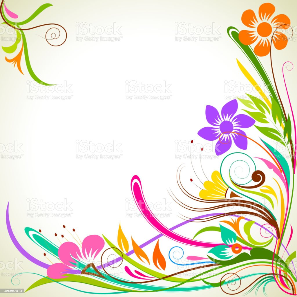 Colorful FLower royalty-free stock vector art