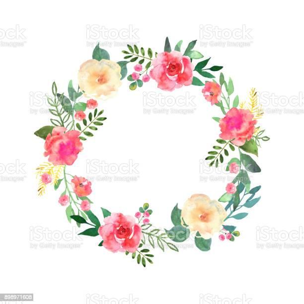 Colorful flowers wreath elegant floral collection with beautifu vector id898971608?b=1&k=6&m=898971608&s=612x612&h=ygehpldz ikbflakxgwa5hnkitjzjw8qntdhapcoy2w=