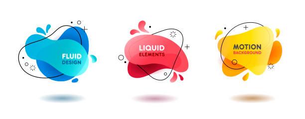 다채로운 액체 추상적인 도형 배경에 대 한 - 날씨 stock illustrations