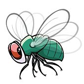 Green Fly, flying, flapping wings