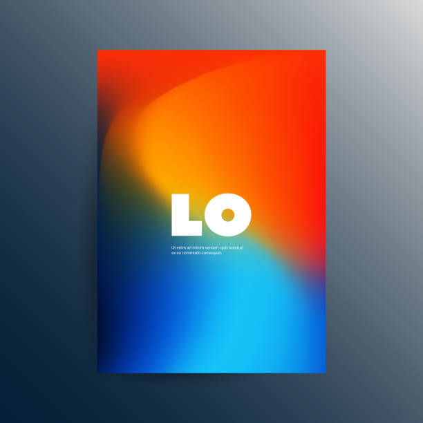 colorful flyer or cover design with abstract blurred pattern - превращаться stock illustrations