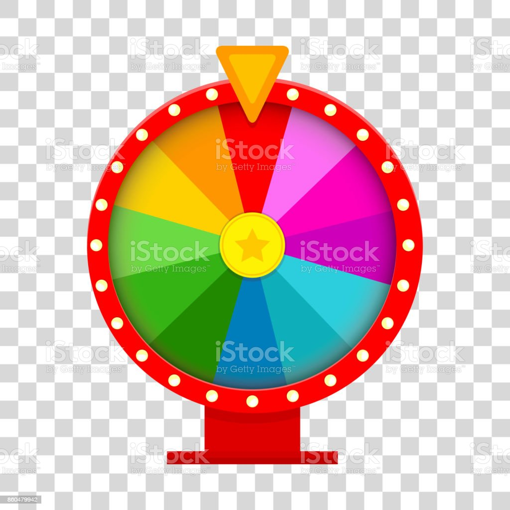Colorful fortune wheel in flat style. vector art illustration