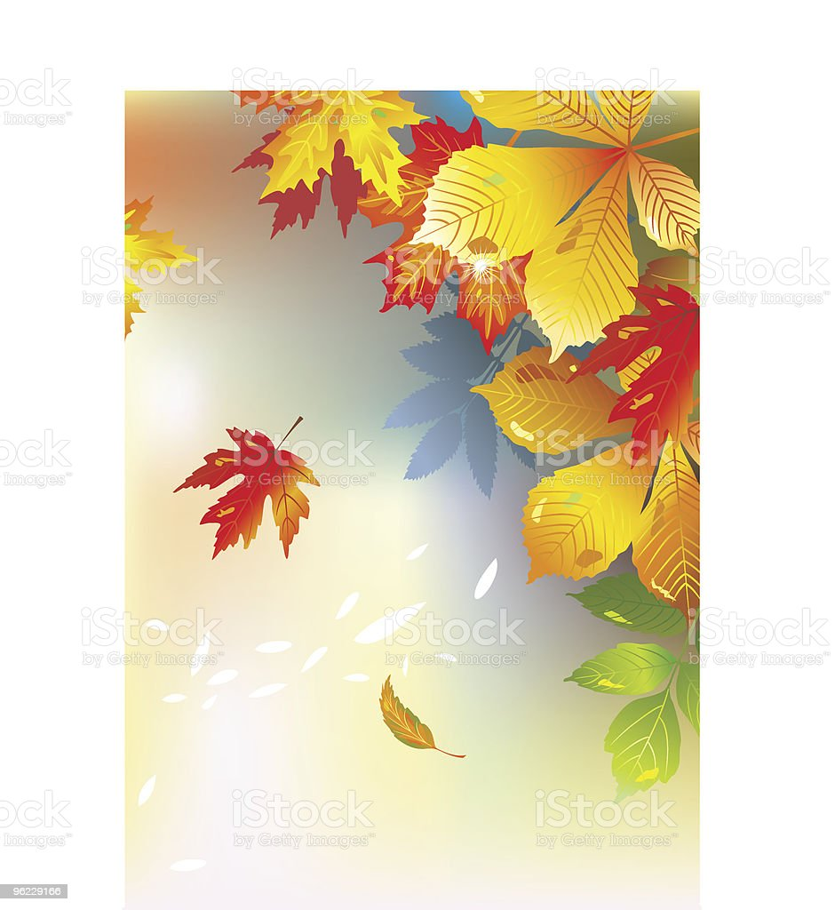 Colorful frame from maple leaves royalty-free stock vector art