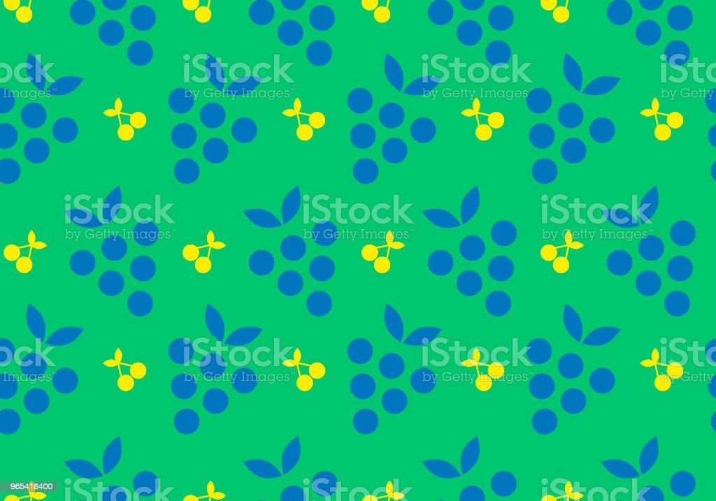 彩色水果無縫圖案背景: 孤立向量元素 - 免版稅一片圖庫向量圖形
