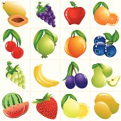 Self illustrated Colorful Fruits/Icon Set.Please see some similar pictures from my portfolio: