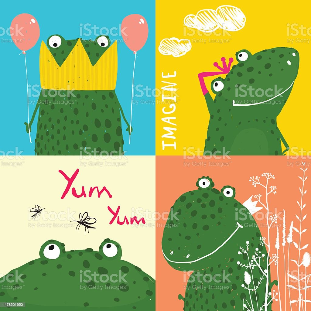Ilustración de Colores Divertidos Dibujos Animados De Animales De ...