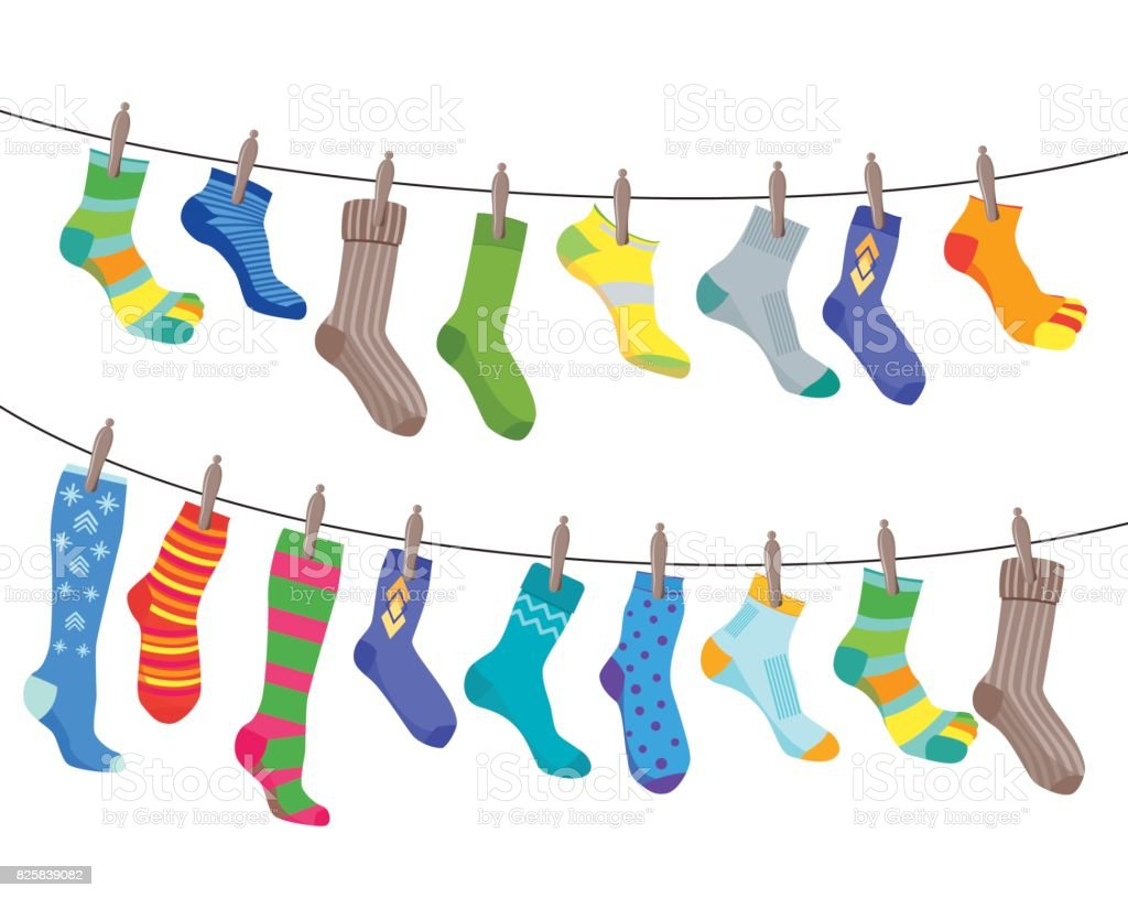 royalty free sock clip art vector images illustrations istock rh istockphoto com socks clipart png socks clip art black and white
