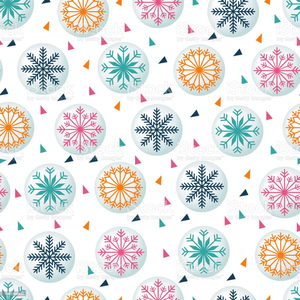 Colorful Fun Winter Snowflake Seamless Pattern Background Wallpaper Stock Illustration Download Image Now Istock
