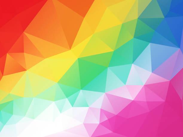 colorful funny children geometric background vector art illustration